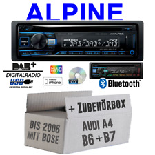 Alpine Autoradio für Audi A4 B6 B7 Bose Bluetooth DAB+ CD/USB/MP3 Apple Android
