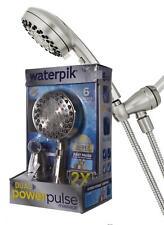 Waterpik Dual Power Pulse Massage Premium OptiFlow 6-Sprays B-Nickel Shower Head