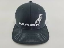 Mack Grey / White Mesh Back Nascar semi truck hat cap adjustable snapback custom
