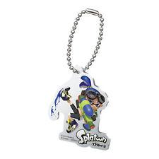 Splatoon Blue Male Inkling with Gun Acrylic Key Chain MINT