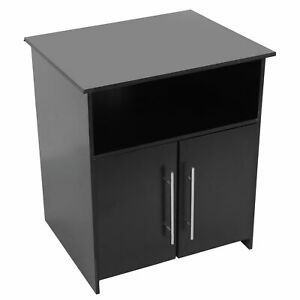 Printer Stand Multifunctional Black Wooden Office Storage Cabinet for Home