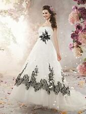 Beading Regular Size Strapless Organza Wedding Dresses