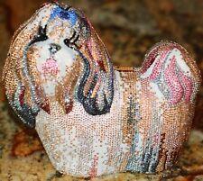 Judith Leiber Couture Shih Tzu Yorkie Maltese Lhasa Apso Dog Minaudiere Purse