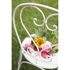 FRENCH garden antique white ivory CHAIR WROUGHT IRON  QUALITY NEW