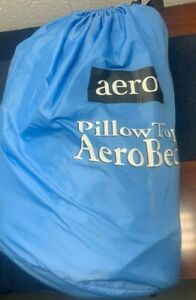 USED Queen Raised Pillowtop Aerobed WITH CARRY BAG, ONE TOUCH COMFORT CONTROL