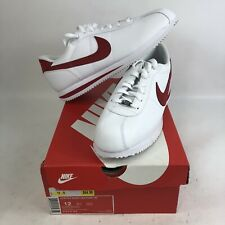 NIB Mens 12 Nike Cortez Leather '06 Red White Running Shoes Forest Gump '72 New