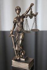 Justitia Figur Deko 19cm Bronze Göttin Recht Anwalt Rechtsanwalt Geschenk Notar