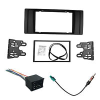2 Din Dash Kit Frame for BMW 5 E39 X5 E53 Stereo Panel DVD Fascia Trim