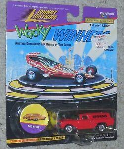 Johnny Lightning Dingue Gagnants Rouge Mauvais News Mosc Neuf Miniature