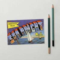Greetings from Sea Bright New Jersey Standard Postcard