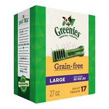 Greenies Grain Free Large Size 17 count 27 oz | Dental Chew Treats for Dogs