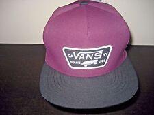 Vans Shoes Mens Starter Full Patch Snapback Hat Cap Maroon Black Free Ship NWT