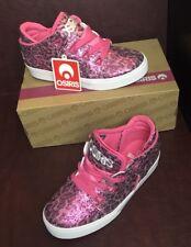 New Girls Sneakers Osiris pink bape leopard skate size 5 Diva Princess NIB