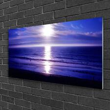 Tulup Glass print Wall art 100x50 Image Picture Sea Sun Landscape