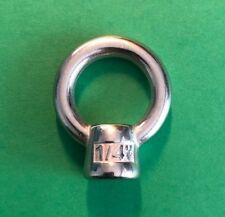 "Stainless Steel 316 1/4"" Lifting Eye Nut Marine Grade 1/4"" UNC"
