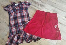 Bekleidungspaket Mädchen gr 134 Kleid,Rock verstellbarer Bund Stickerei