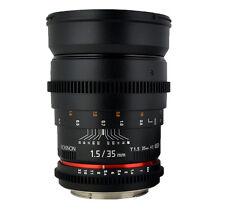 ROKINON 35mm T1.5 Cine Wide Angle Lens for Sony E-mount VDSLR -