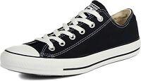 Converse All Star Chuck Taylor Low Top Canvas Black White NIB M9166 Unisex