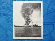 Illustrazione Italiana 1898 - Incendio di petrolio a Venezia 1898