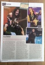 IRON MAIDEN 'O2 Arena concert review 2013' UK ARTICLE / clipping
