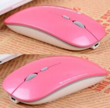 Wireless Slimline Optical Mouse Rechargeable 2.4GHz (Pink) (Brand New)