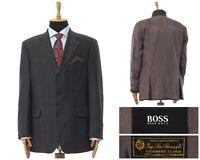 Mens HUGO BOSS ing LORO PIANA Blazer Coat Jacket Cashmere Silk Grey Size 44 54