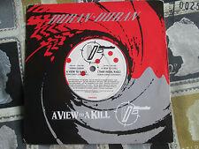 Duran Duran – A View To A Kill  EMI – DURAN 007 UK Vinyl 7inch 45 Single