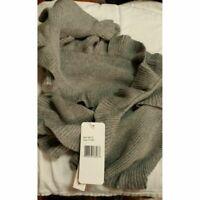 NWT Aqua Women's Gray Scarf SOFT Cashmere Angora Cotton Viscose 65x8