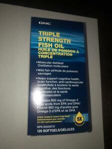 *SEALED* GNC Triple Strength Fish Oil - 1000mg of EPA/DHA Omega / 120 Softgels