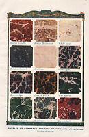 1906 Stampa ~ Biglie Di Commerce Venature & Colorare Marrone Spa Egiziano Verde