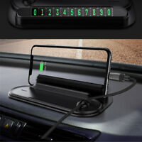 Car Dashboard Phone Holder Mount Stand Night Light Parking Phone Number Card