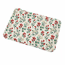 Christmas Holly Berry Berries Gold Sparkle Quilted Single Rectangular Placemat