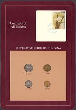 {BJSTAMPS}  Coin Sets of All Nations Cooperative Republic of Guyana 1980-1988 BU