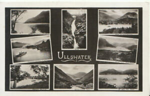 Cumbria Postcard - Views of Ullswater - Real Photograph - Ref TZ6206