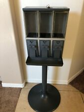 2 NEW Vendstar 3000 Triple-Head bulk candy vending machines with Lock & Keys