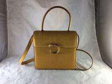 Vintage Cartier Yellow Lizard Skin Box Style Bag Vintage!
