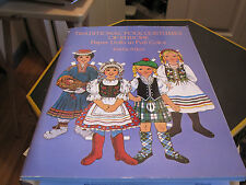 Vintage Paper Dolls 1983 Traditional Folk Costumes Of Europe Kathy Allert