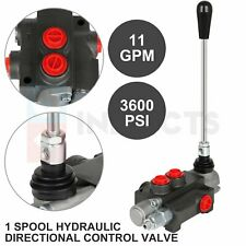 11 Gpm 1 Spool Hydraulic Control Valve Double Acting Tractor Loader With Joystick