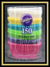NEW! Wilton ***PASTEL RAINBOW COLORS STANDARD SIZE BAKING CUPS** 150 ct  #1624