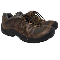 L.L. Bean Mens Hiking Shoes Style 274568 Brown Leather Low Ankle Size 10 M