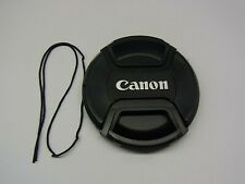 62mm Front Lens Cap Center Pinch Snap on for Canon Camera Plastic OEM