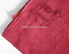 By The Yard  Cotton Voile Hand Block Print Fabric Natural Dyes Sanganer Indian