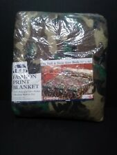 "New Cambridge Owen Blanket Camoufle Polyester Nylon Binding Full & Twin 72"" x 90"