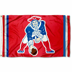 NFL New England Patriots Pat Patriot Large Outdoor 3x5 Banner Flag