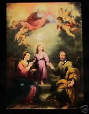 Glass Magic Lantern Slide THE HOLY FAMILY BY MURILLO C1910 FINE RT PHOTO