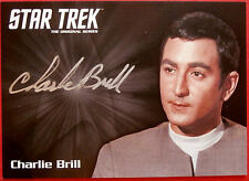 STAR TREK TOS 50th, CHARLIE BRILL as ARNE DARVIN, Autograph Card VERY LIMITED