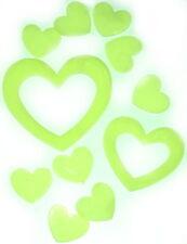 12 fluoreszierende Herzen Wandbilder leuchten im Dunkeln,Deko / Valentinstag