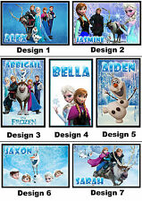 Personalised Frozen Fridge Magnet - With a Name or Message - Gift Idea - 7x5cm