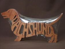 Dachshund Dog Wooden Amish Made Toy Scroll Saw  Puzzle