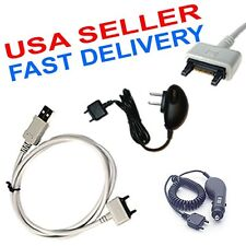 SONY ERICSSON AUTO HOME CHARGERS USB DATA CABLE Z760a TM506 W610i W710i X1 Z550a